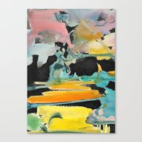 Abstract watercolour Canvas Print