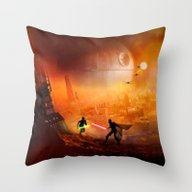 Throw Pillow featuring STAR . WARS by Joe Roberts