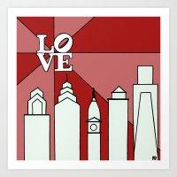 LOVEred Art Print