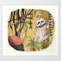 Sloth Bear Art Print