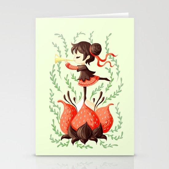 Spring Melody Stationery Card