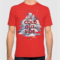 Baby It's Cold Outside Mens Fitted Tee Red SMALL