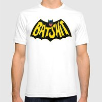 BATSHIT Mens Fitted Tee White SMALL