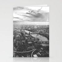 London Skyline BW Stationery Cards