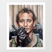 Bill Murray / Ghostbuste… Art Print