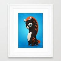 Dark Wippo Framed Art Print