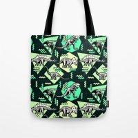90's Dinosaur Skeleton N… Tote Bag