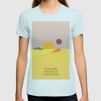 A New Hope Womens Fitted Tee Light Blue SMALL