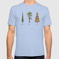 Fur Tree Mens Fitted Tee Tri-Blue SMALL