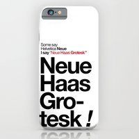 iPhone & iPod Case featuring Helvetica Neue / Neue Haas Grotesk – Poster by The Modern Era
