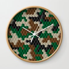 Cubouflage Wall Clock