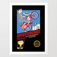 Adventurebike Art Print