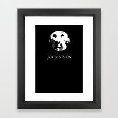 JOY DIVISION - Music | Goth | Indie | Wave | Retro | Vintage | Vector | Black and White | Vinyl  Framed Art Print