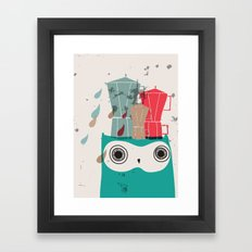Owl Aloud Framed Art Print