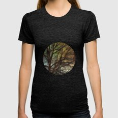 Psychadelic Tree Womens Fitted Tee Tri-Black SMALL