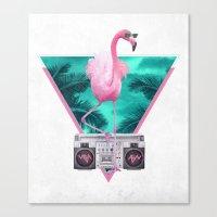Miami Flamingo Canvas Print