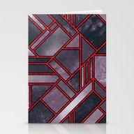 Red & Plum Stationery Cards