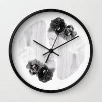 Selene And Eos (black An… Wall Clock