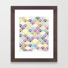 Colorful Circles II Framed Art Print