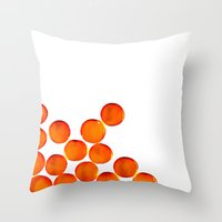 Crystal Balls Orange Throw Pillow
