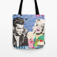 James and Marilyn  Tote Bag