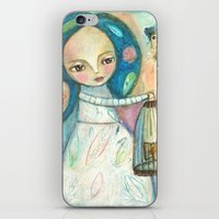 Free To Fly - Girl And B… iPhone & iPod Skin