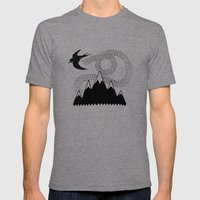 Mountain Swallow Mens Fitted Tee Tri-Grey SMALL