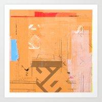 CROSS OUT #33 Art Print