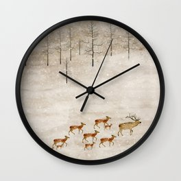 Wall Clock - a new home for winter - bri.buckley