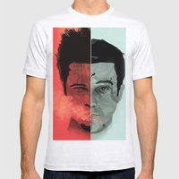Tyler Durden V. The Narr… Mens Fitted Tee Ash Grey SMALL