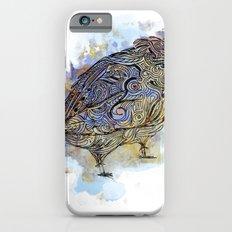 watercolor sparrow Slim Case iPhone 6s