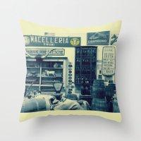 Macelleria Throw Pillow
