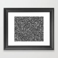 50 shades of grey Framed Art Print