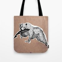 Bear 3 Tote Bag