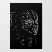 Glitchmask Zone Canvas Print