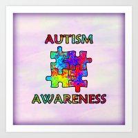 Autism Awareness Art Print