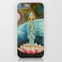 iPhone & iPod Case featuring Quan Yin by Lee Libro