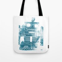 Sad Robot Tote Bag