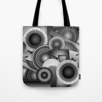 Monochrome Mayhem  Tote Bag