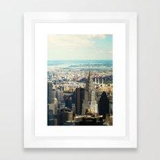 Vintage Colors. Chrysler Building, New York. Framed Art Print