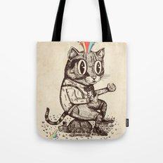 Strange Cat Tote Bag