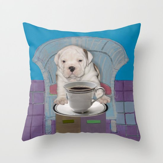 can't this wait until after my first cup Throw Pillow