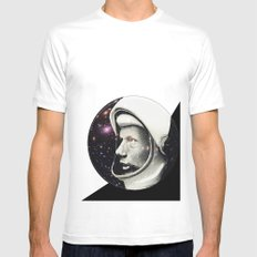 Astronaut White SMALL Mens Fitted Tee