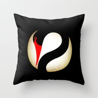 Black Swan Logo Throw Pillow
