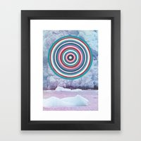 Warm Ice Framed Art Print
