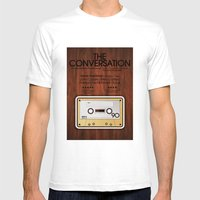 The Conversation Mens Fitted Tee White SMALL