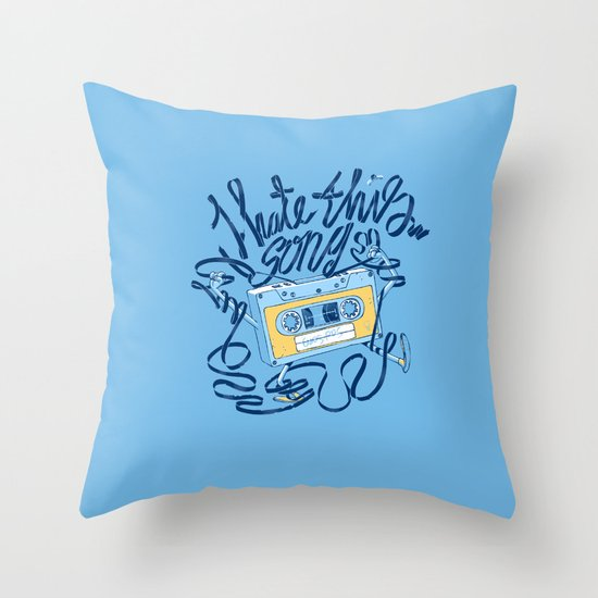Sad song Throw Pillow