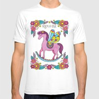 Rock-A-Bye (Pink) Mens Fitted Tee White SMALL