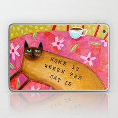 Siamese Cat HOME IS WHER… Laptop & iPad Skin