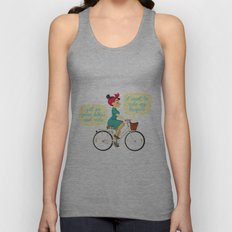 I want to ride my bike Unisex Tank Top